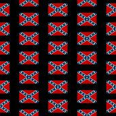 pic of confederation  - Confederate States of America seamless pattern on black background - JPG