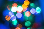 Abstract Christmas Bokeh Light Background