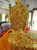 Gold Foil Paper On Buddha Statues