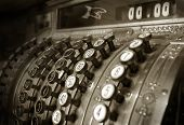 image of cash register  - Vintage cash register - JPG