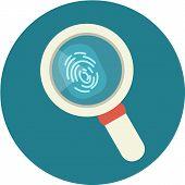 Vector fingerprint under a magnifier