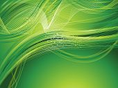 Abstract Artistic Green Background Wave