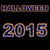 Halloween 2015 Font Written With Hot Flames