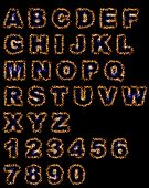 Flame Hot Fonts On Black Background