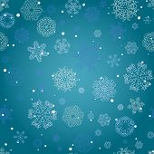 Winter Seamless Texture With Snowflakes