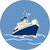 image of cruise ship caribbean  - Cruise Ship  Vector illustration in flat style eps  10 - JPG