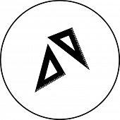 triangle rulers symbol