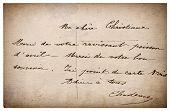 Letter With Handwritten Text. Grunge Vintage Cardboard