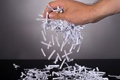 Shredded Documents In Security Concept