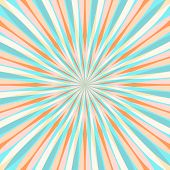 Abstract Colorful Retor Rays Background. Vector