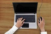 Businessperson Hands Working With Laptop