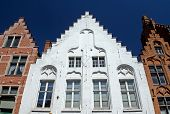 Historic Houses In The Center Of Bruges