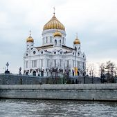 Moscow Cathedral Of Christ The Saviour In Cloudy Day 2011