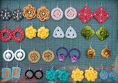 Handmade Earrings  Made Of Wool And Plastic 1