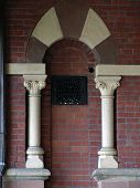 Detail Town Hall Columns And Arch poster