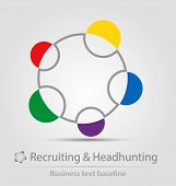 Recruiting And Headhunting Business Icon