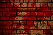 Blood Splash On Brick Wall