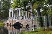 Marble Bridge Or Siberian Marble Gallery In Tsarskoye Selo (pushkin)