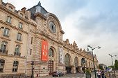 Facade Of The Orsay Museum In Paris, France