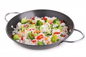 rice cooked with vegetables