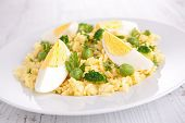 rice cooked with egg and vegetables