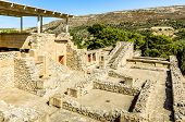 foto of minos  - Panorama of Labyrinth in the palace of Knossos - JPG