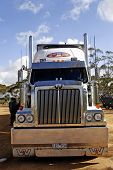 A Large Australian Truck Parked