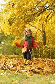 little girl on walk