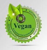picture of vegan  - Creative label for vegan - JPG