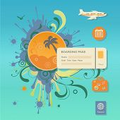 Flat design style modern vector illustration concept of planning a summer vacation,
