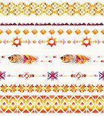 Seamless ethnic Indian pattern.