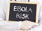 Doctor Shows Information: Ebola Risk