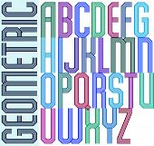 Bright geometric expressive triple font, drop caps.