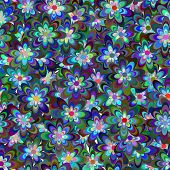Seamless Pattern Consist Of Flowers.
