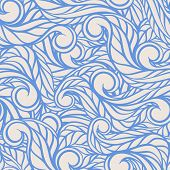 Blue Lines And Swirls