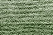 Texture Wadded Fabric Of Green Color