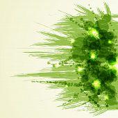 Green bright ink splashes. Grunge background