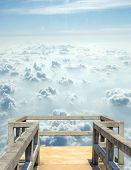 Floating gazebo in the clouds.