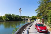 Cars Passing Through Saint- Martory