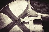picture of crusader  - Crusader with shield and sword - JPG