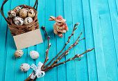 Quail Eggs And Willow Branch