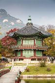 pic of seoul south korea  - Gyeongbokgung Palace and its grounds on a fine autumn day in Seoul - JPG