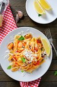 Pasta With Seafood, Cheese And Lemon