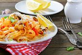 Pasta With Seafood And Lemon