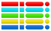 Set Of Blank Colorful Internet Buttons