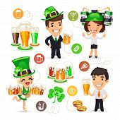 foto of office party  - Office Workers on the Patricks Day Party - JPG