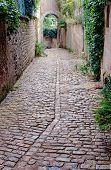 Cobbled alleyway