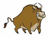 Funny Vector Cartoon Bull