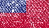 stock photo of samoa  - Flag of Samoa with old texture - JPG