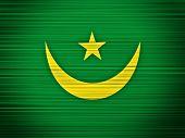 Mauritania Flag Abstract